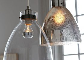 West Elm Industrial Pendant Glass