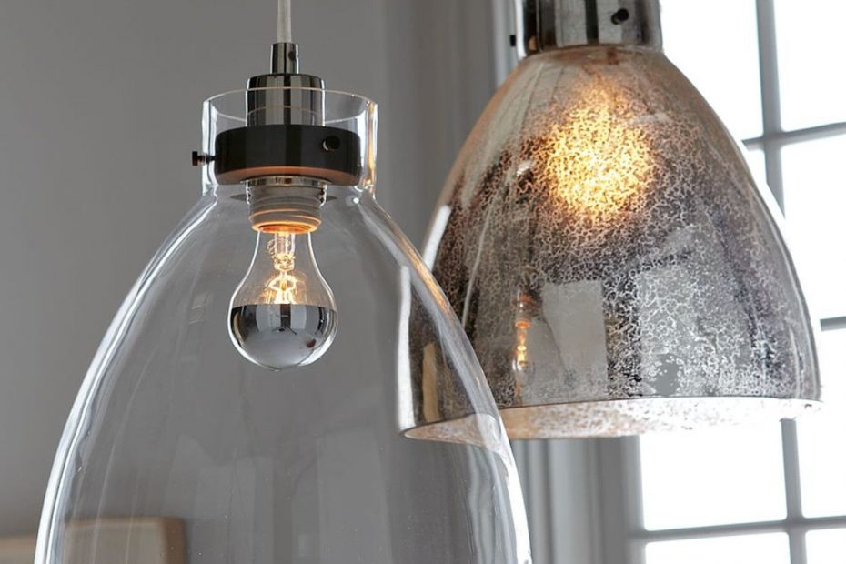 West Elm 149 Industrial Pendant Clear Glass Interior