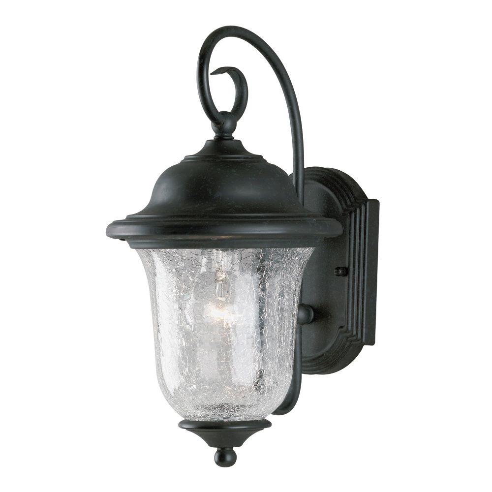 Westinghouse 1 Light Vintage Bronze Steel Exterior Wall Lantern With