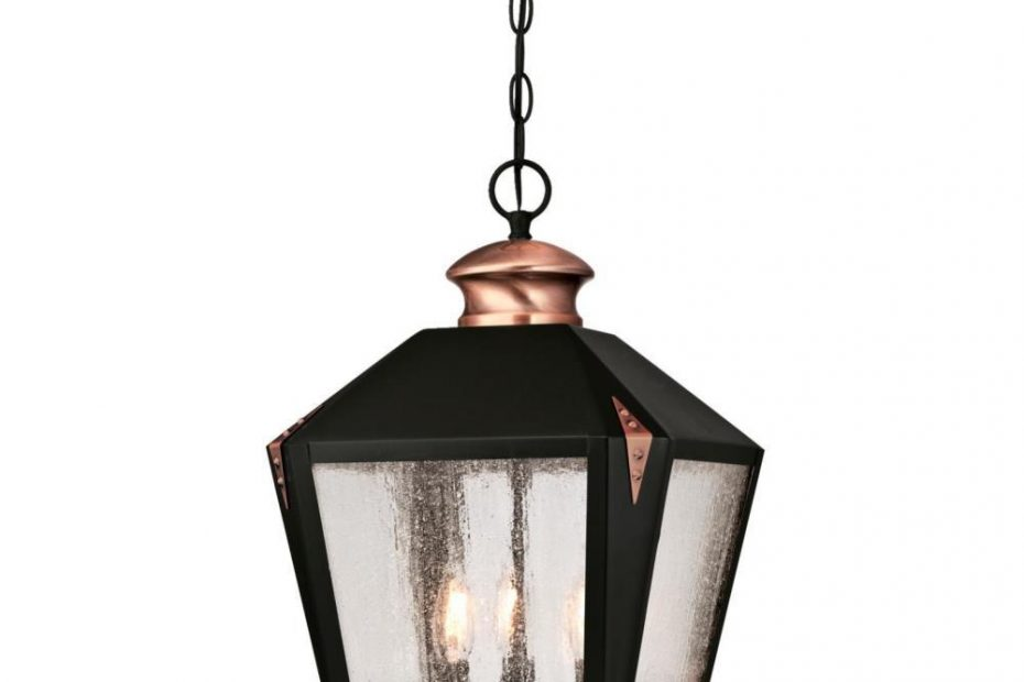 Westinghouse Valley Forge 3 Light Matte Black With Washed Copper