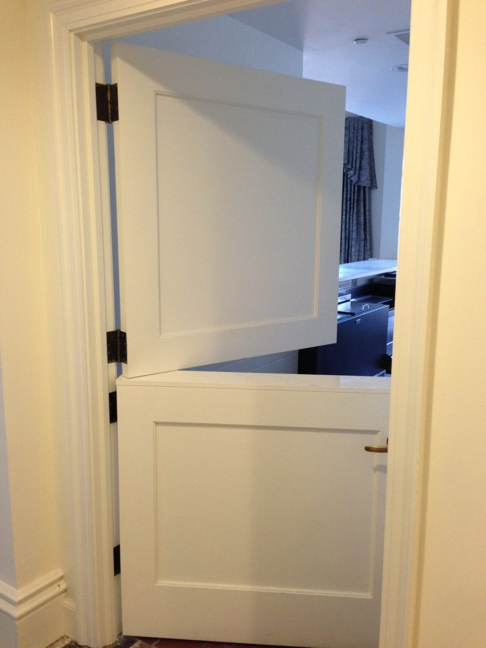 White Internal Stable Doors To Keep The Kids Out The Kitchen