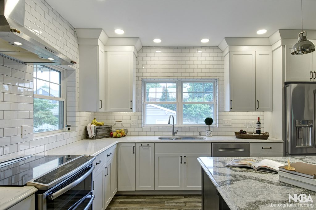 White Kitchen With Grey Accents Nkba