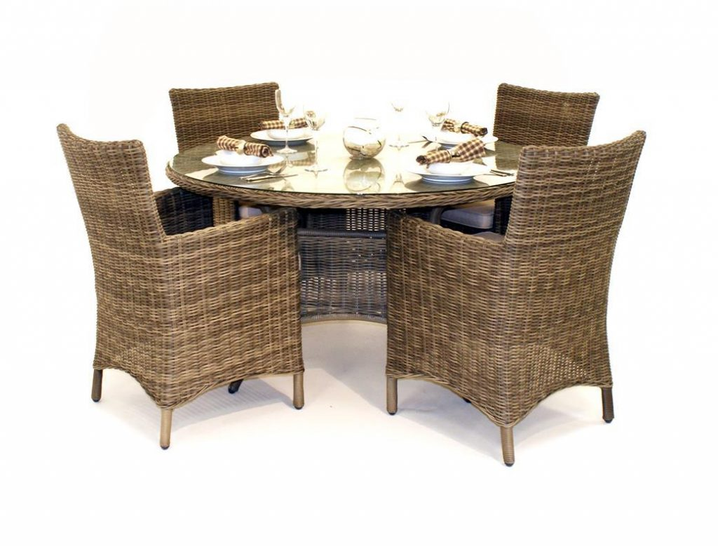 Wicker Chairs Indoor Cushions Room Dining Sets For Rugs Outdoor