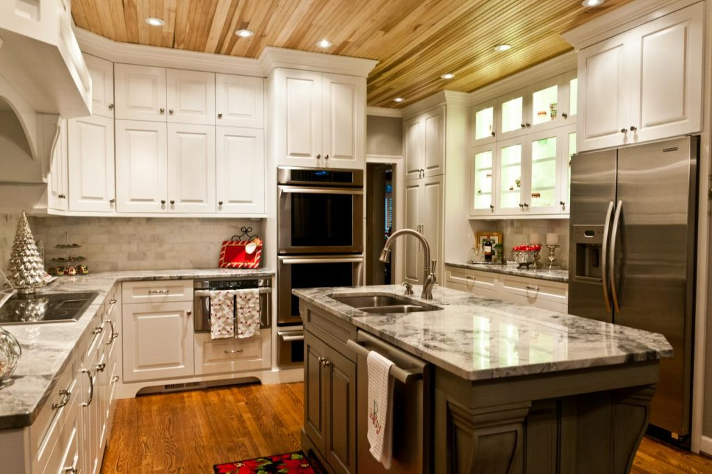 Wood Plank Ceiling Kitchen Furniture Home Decor