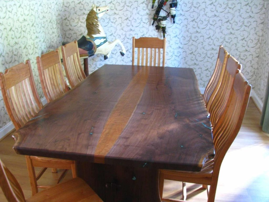 Wood Slab Furniture Intended For Dining Table Idea 10