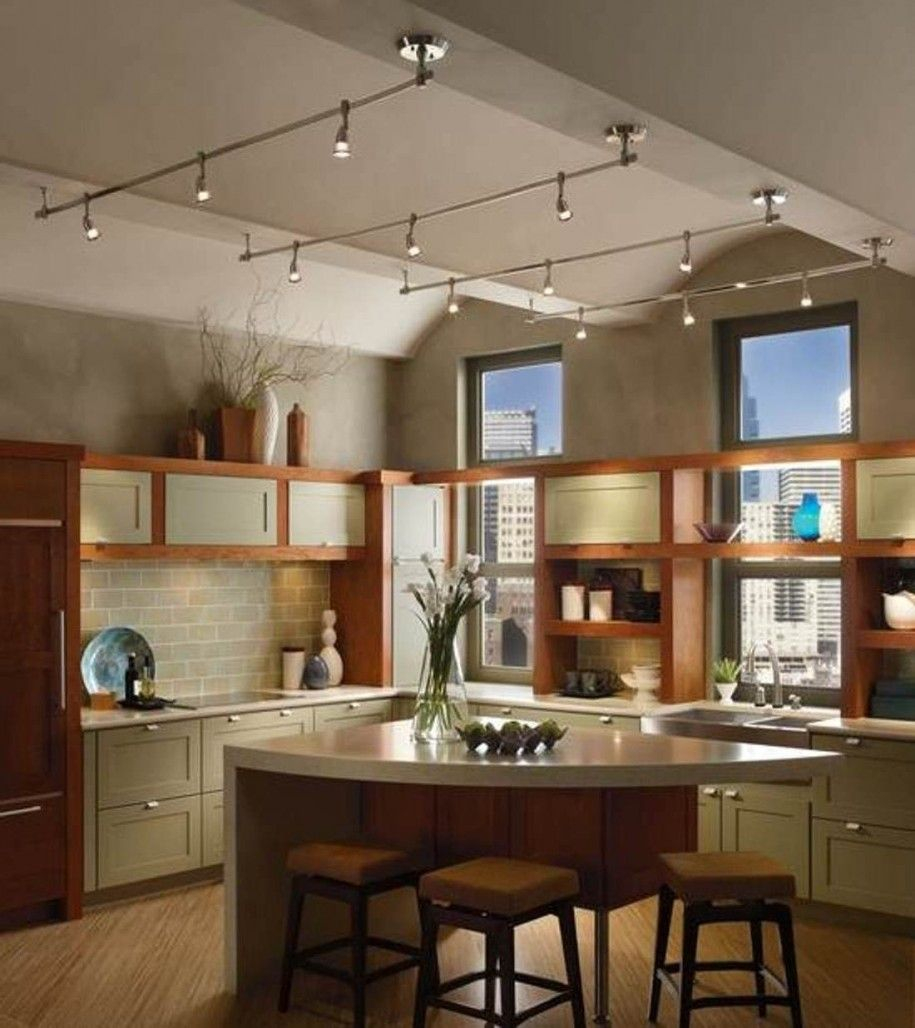 11 Stunning Photos Of Kitchen Track Lighting Interior Exterior