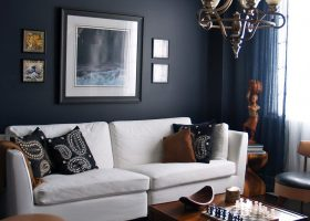Dark Blue Rooms Interior Design Ideas