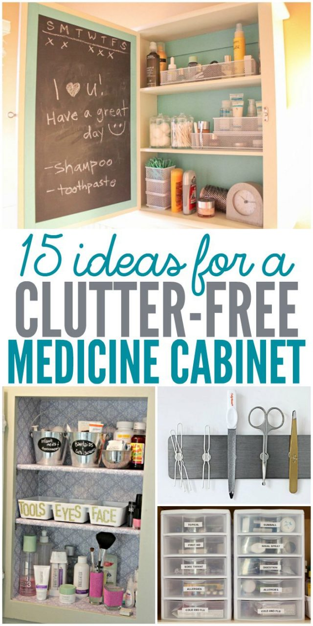 15 Ideas For A Clutter Free Medicine Cabinet A Organized Nest