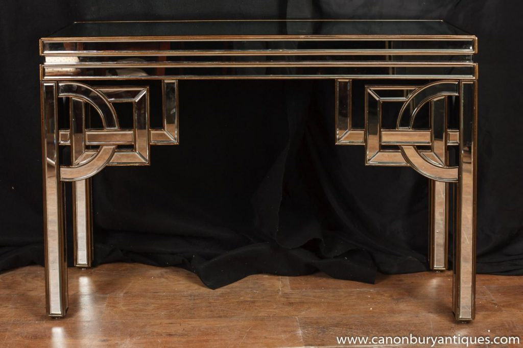 1920artdecofurniture About Art Deco Mirrored Console Table
