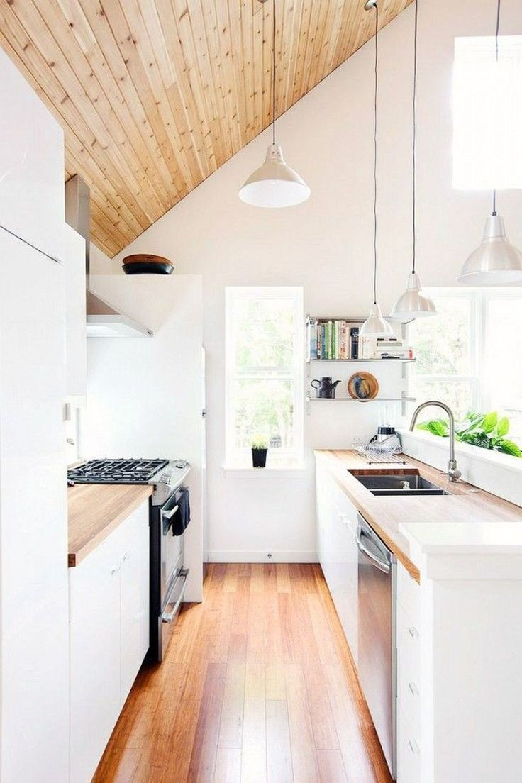 20 Inspiring Modern Scandinavian Kitchen Design Ideas Wood Beams