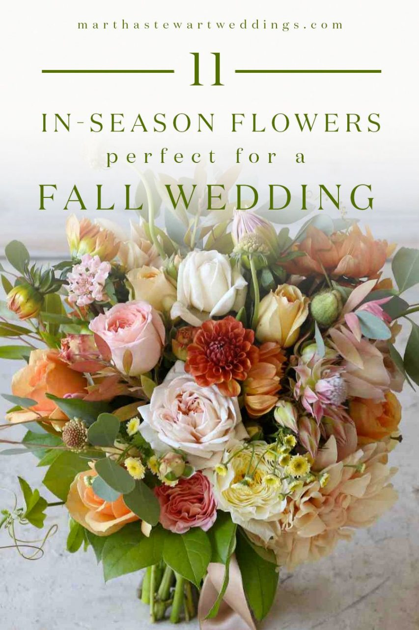 24 Ways To Use In Season Flowers In Your Fall Wedding Arrangements