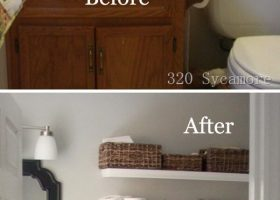 DIY Bathroom Shelf Ideas