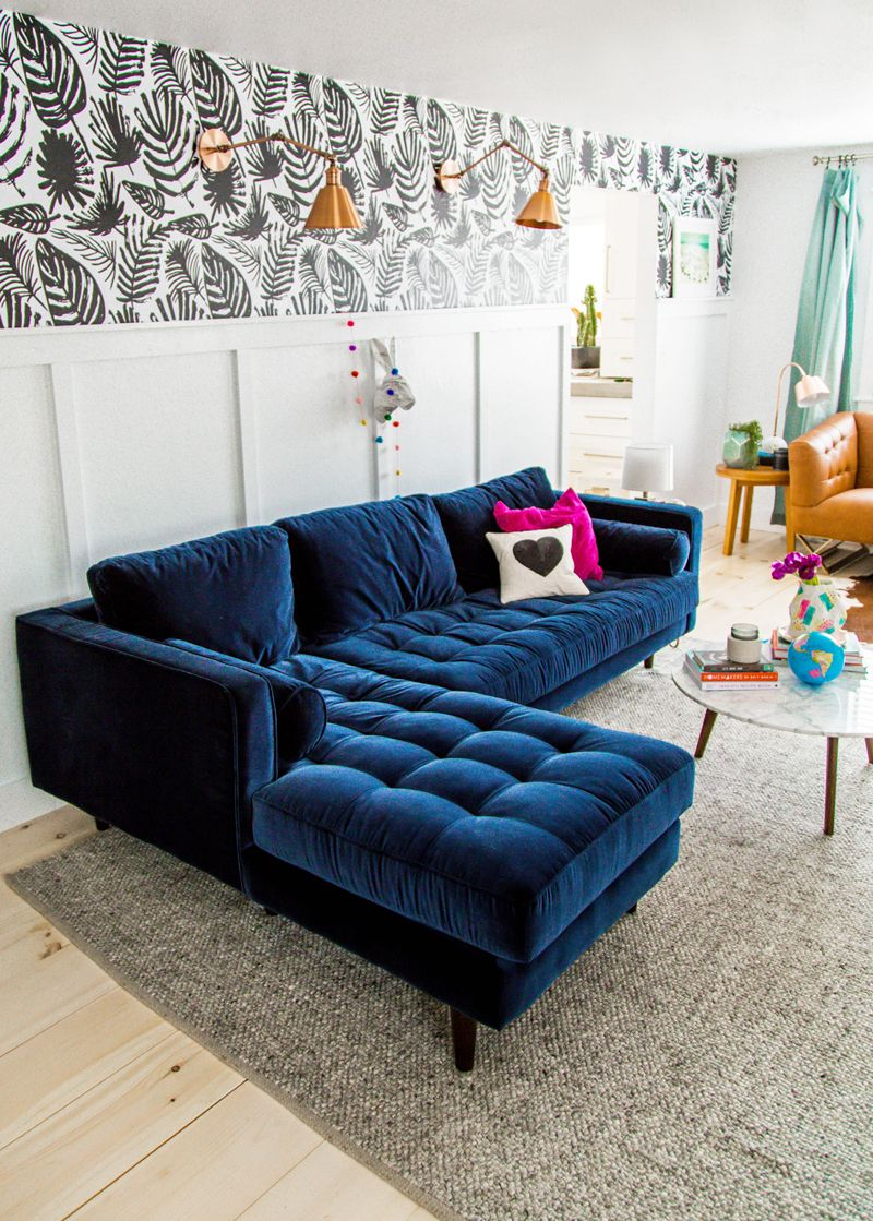 25 Stunning Living Rooms With Blue Velvet Sofas Dream Home Blue