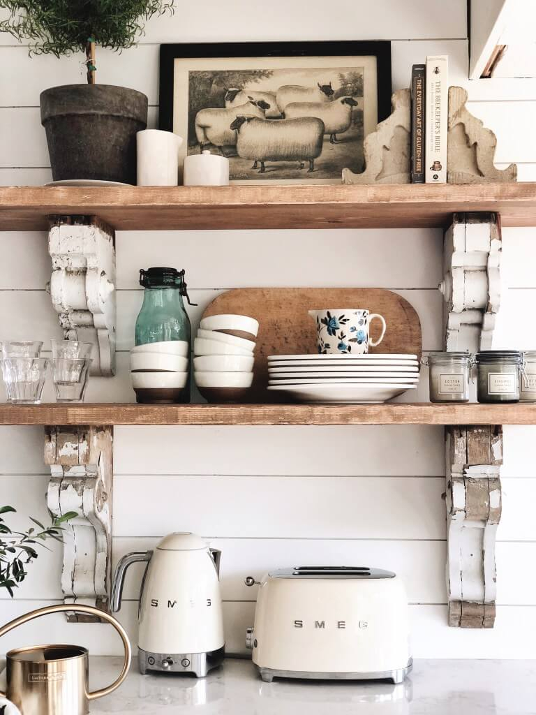 26 Best Farmhouse Shelf Decor Ideas And Designs For 2019