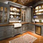 Rustic Kitchen Cabinets with Gray