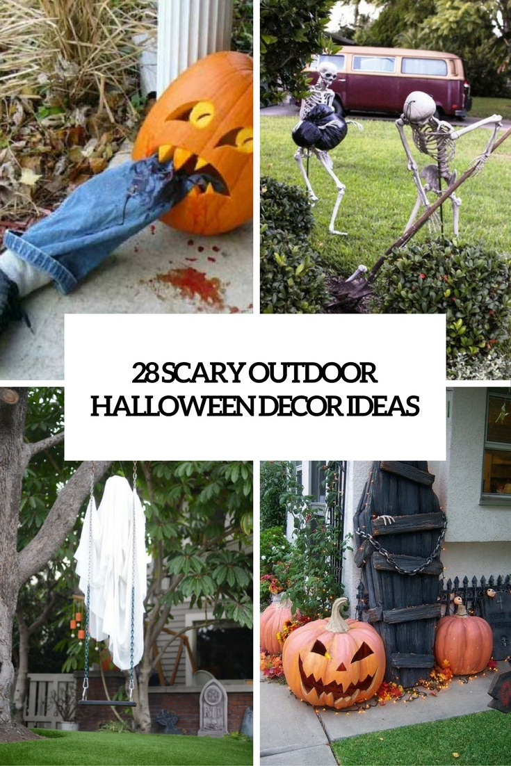 28 Scary Outdoor Halloween Dcor Ideas Shelterness