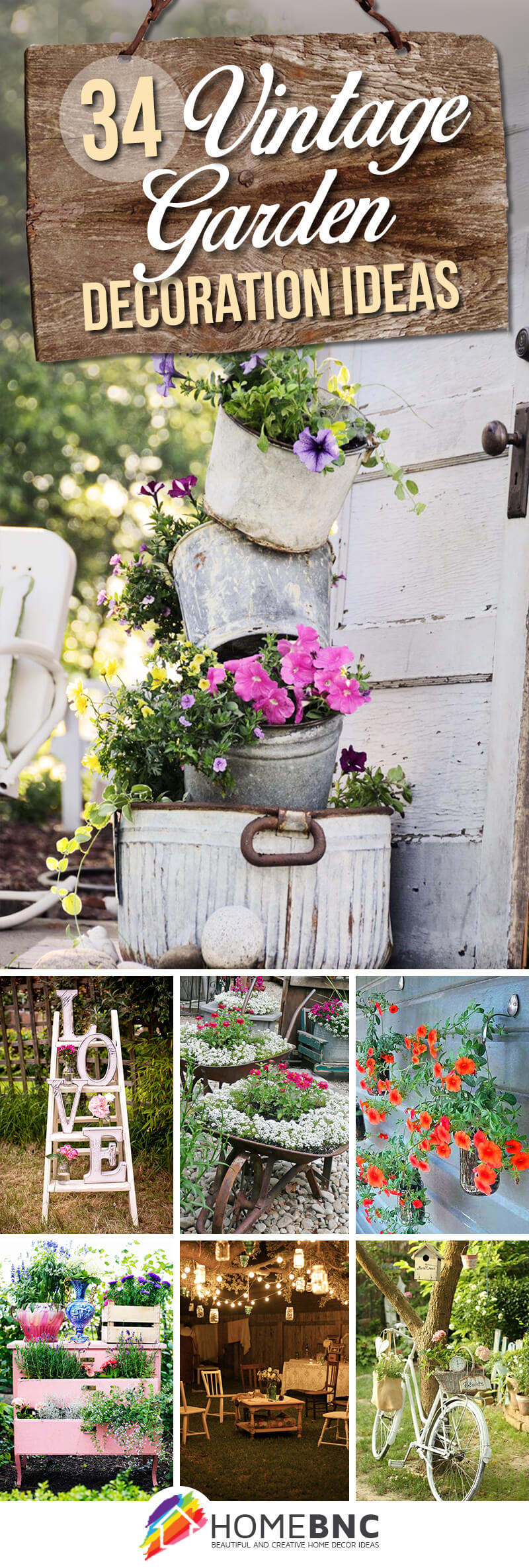 34 Best Vintage Garden Decor Ideas And Designs For 2019