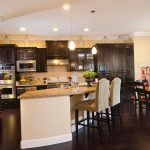 Kitchen Cabinet Color with Dark Floors