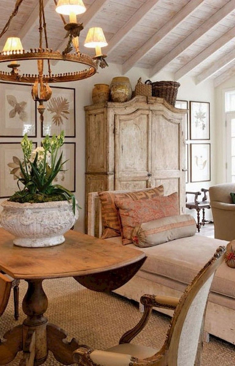 38 Wonderful French Country Living Room Decor Ideas Living Room
