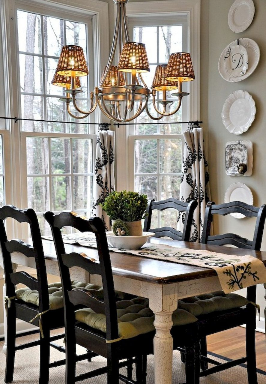 55 Fancy French Country Dining Room Table Decor Ideas