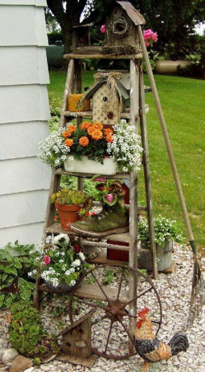 8 Brilliant Diy Vintage And Rustic Garden Decor Ideas On A Budget