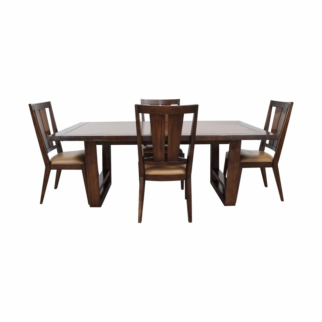 87 Off Bernhardt Bernhardt Wood Dining Set Tables