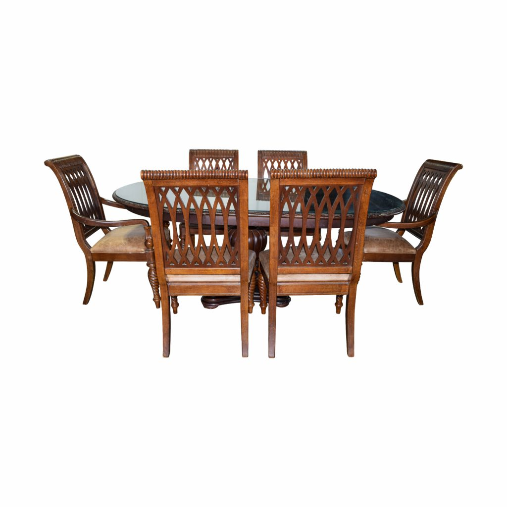 90 Off Bernhardt Bernhardt Embassy Row Cherry Carved Wood Dining