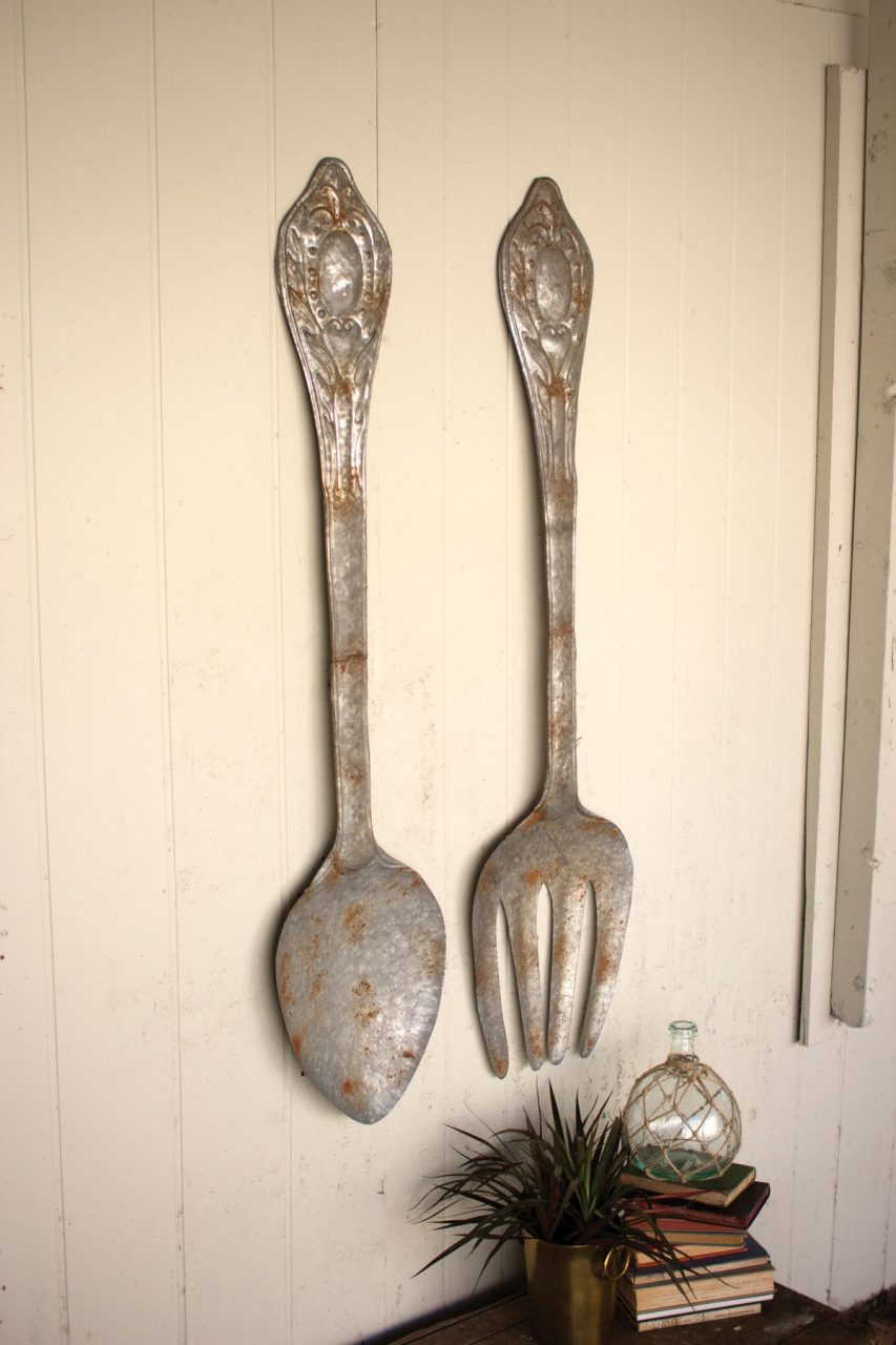 A Heaping Helping House Wish List Fork Spoon Wall Decor