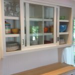Wood Kitchen Cabinets with Sliding Doors