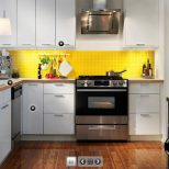 Admirable Yellow And White Ikea Kitchen Home Ideas Yellow