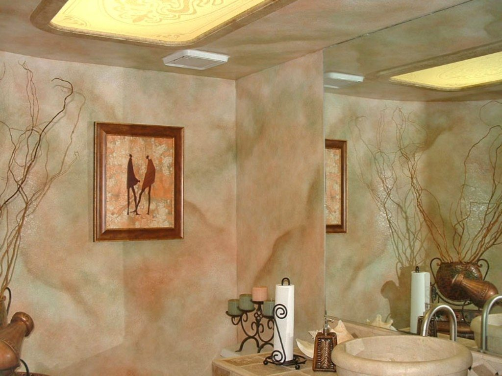 Amazing Faux Bathroom Walls For Victorian Interior Design With