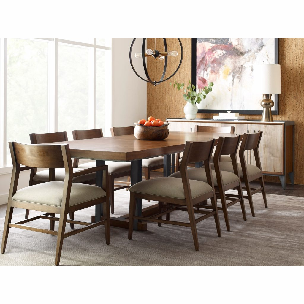 American Drew Modern Synergy Contemporary Formal Dining Room Group