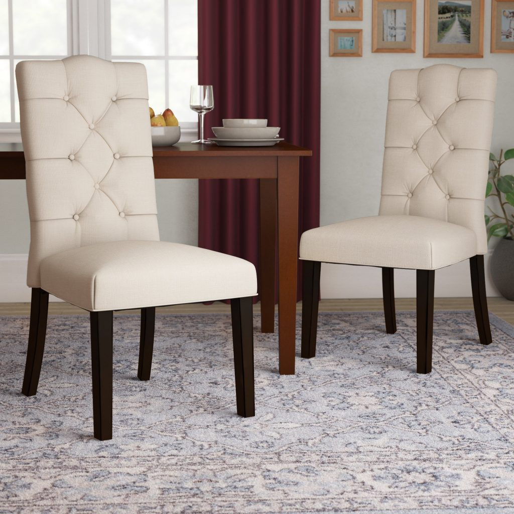 Andover Mills Keturah Upholstered Dining Chair Reviews Wayfair