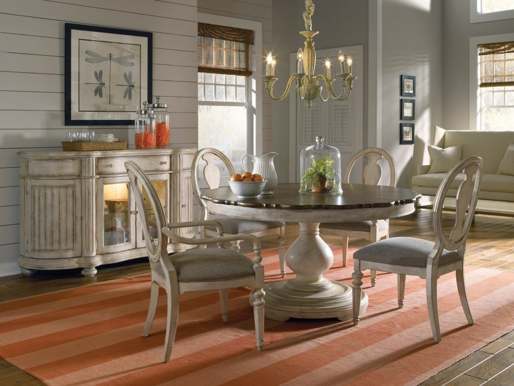 Art Belmar Ii Round Dining Set In White Dining Rooms Outlet