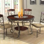 5 Piece Round Dining Room Table Set