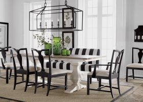 Black and White Dining Room Table