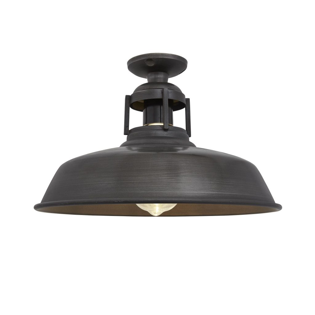 Barn Slotted Flush Mount 12 Inch Pewter In 2019 Pendant Lights