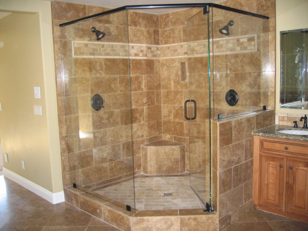 Bathroom Corner Units Corner Shower Half Wall Ideas Corner Tile