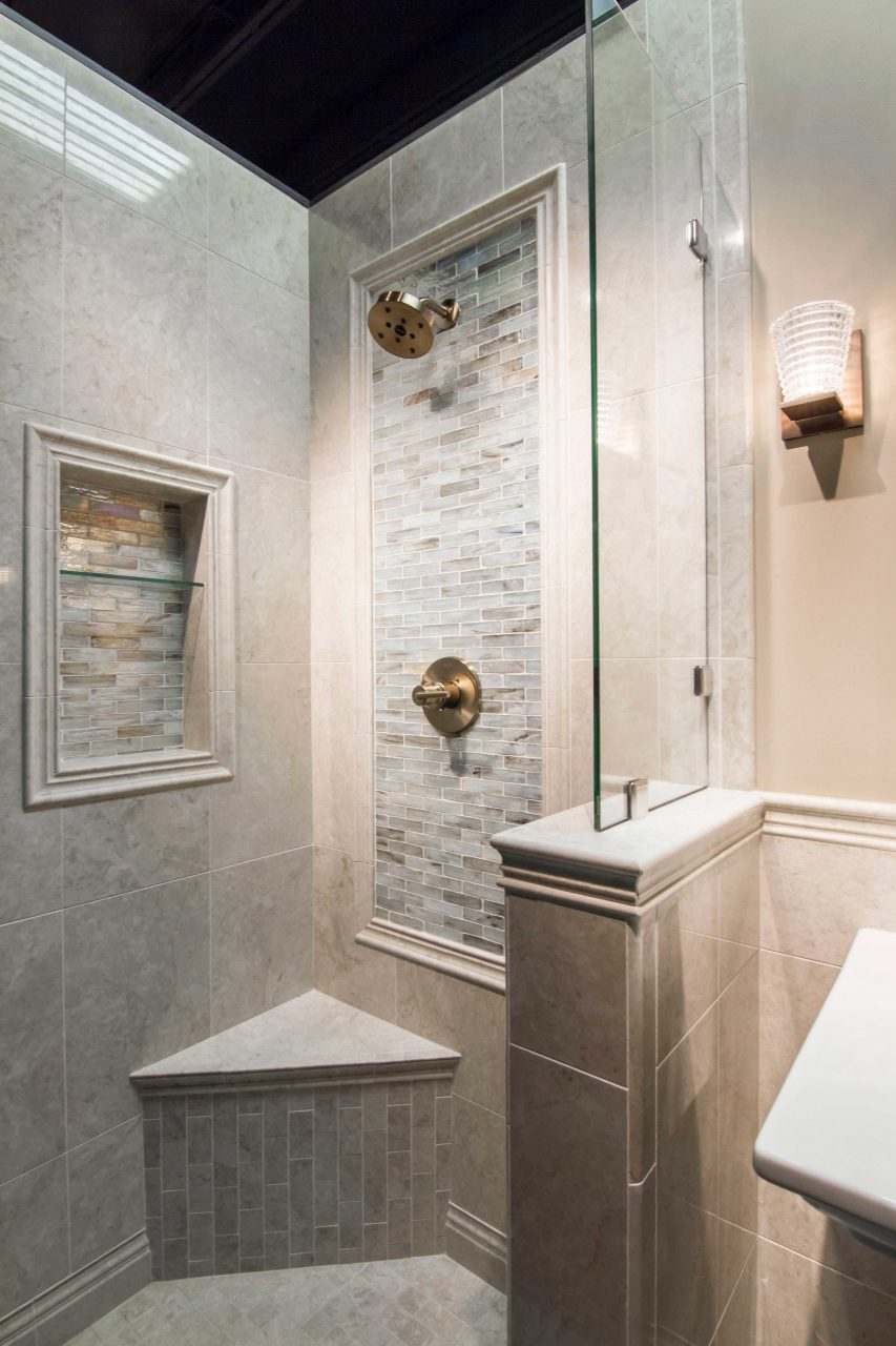 Bathroom Shower Backsplash Focal Point Tile Inglewood Glass Mosaic