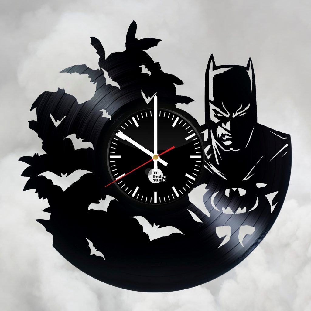 Batman Handmade Vinyl Record Wall Clock Fan Gift Vinyl Clocks