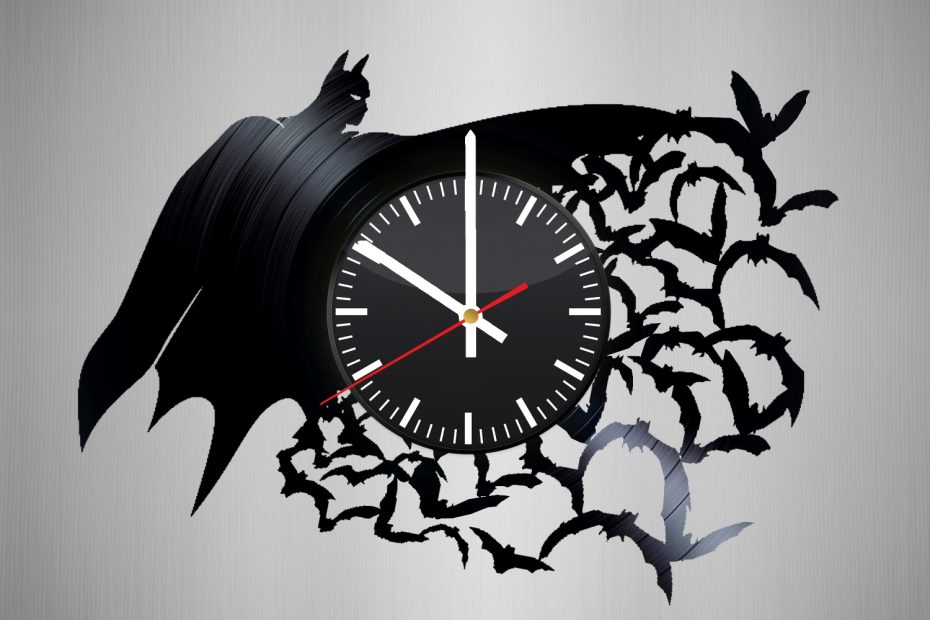Batman Handmade Vinyl Record Wall Clock Vinyl Clocks