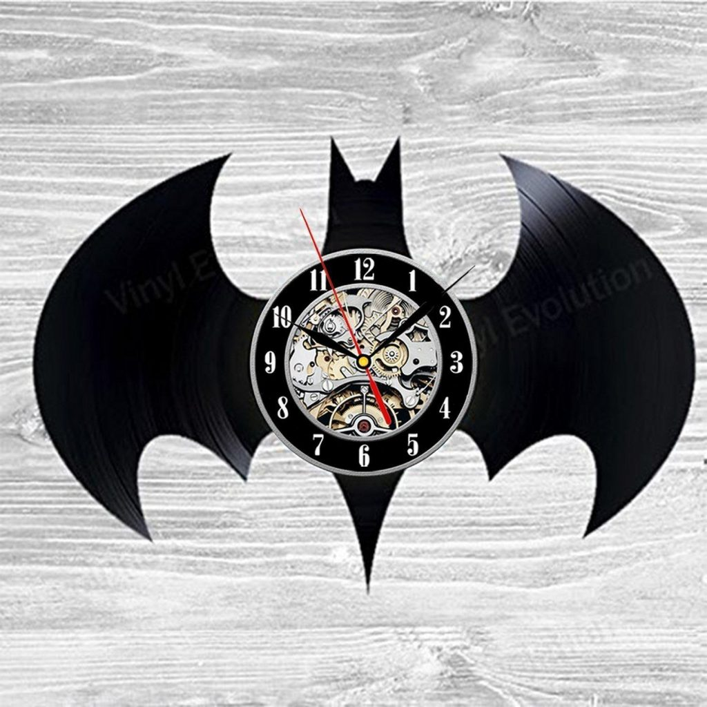 Batman Room Decor Collectibles Vinyl Record Wall Clock Decorate Your