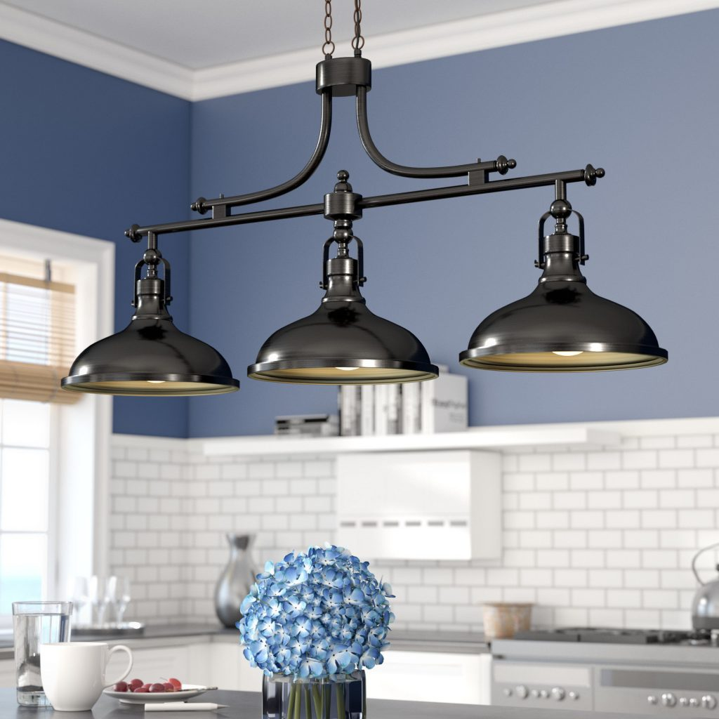 Beachcrest Home Martinique 3 Light Kitchen Island Pendant Reviews