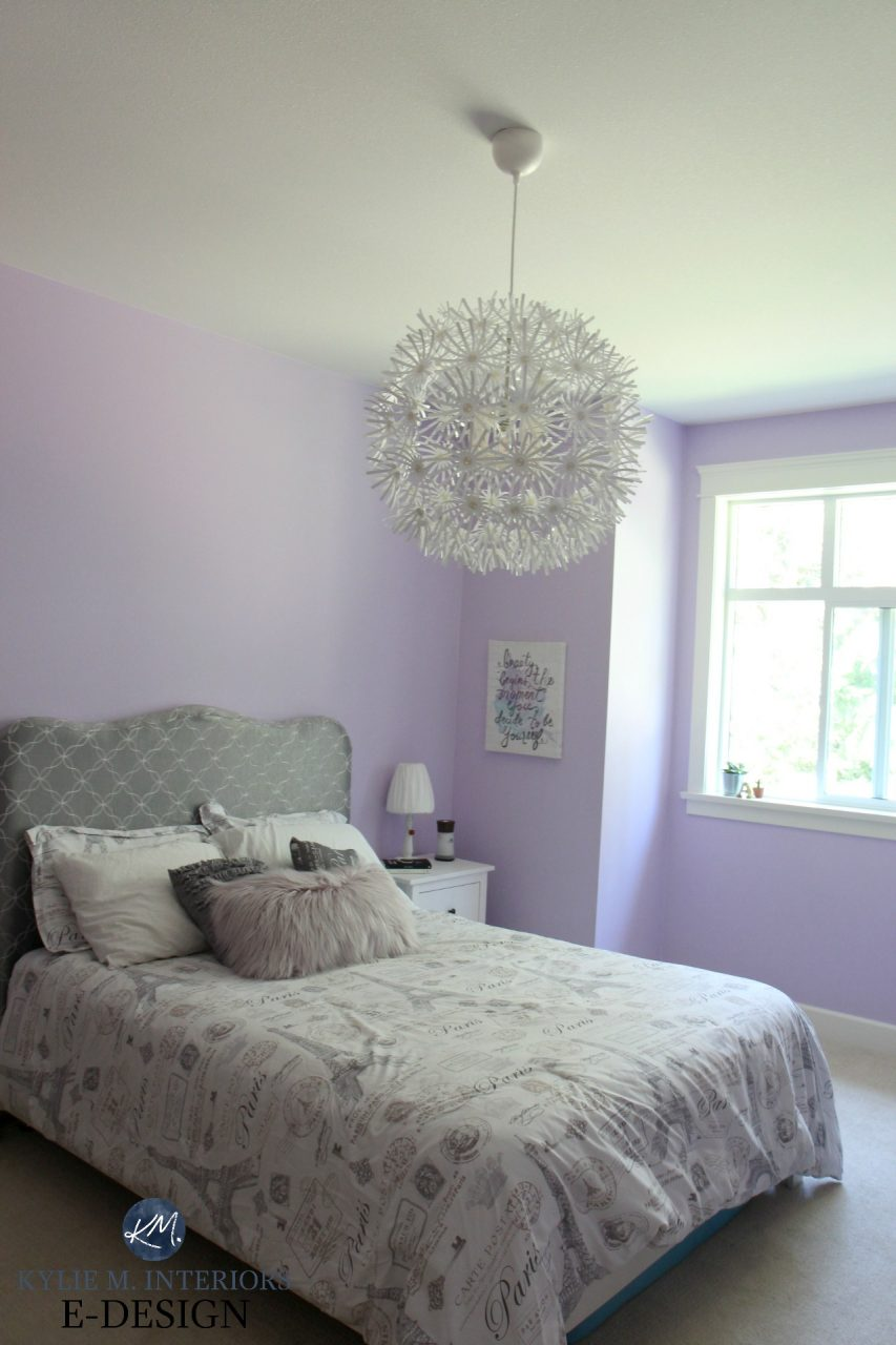 Best Purple Paint Colour Benjamin Moore Lily Lavender In Girls