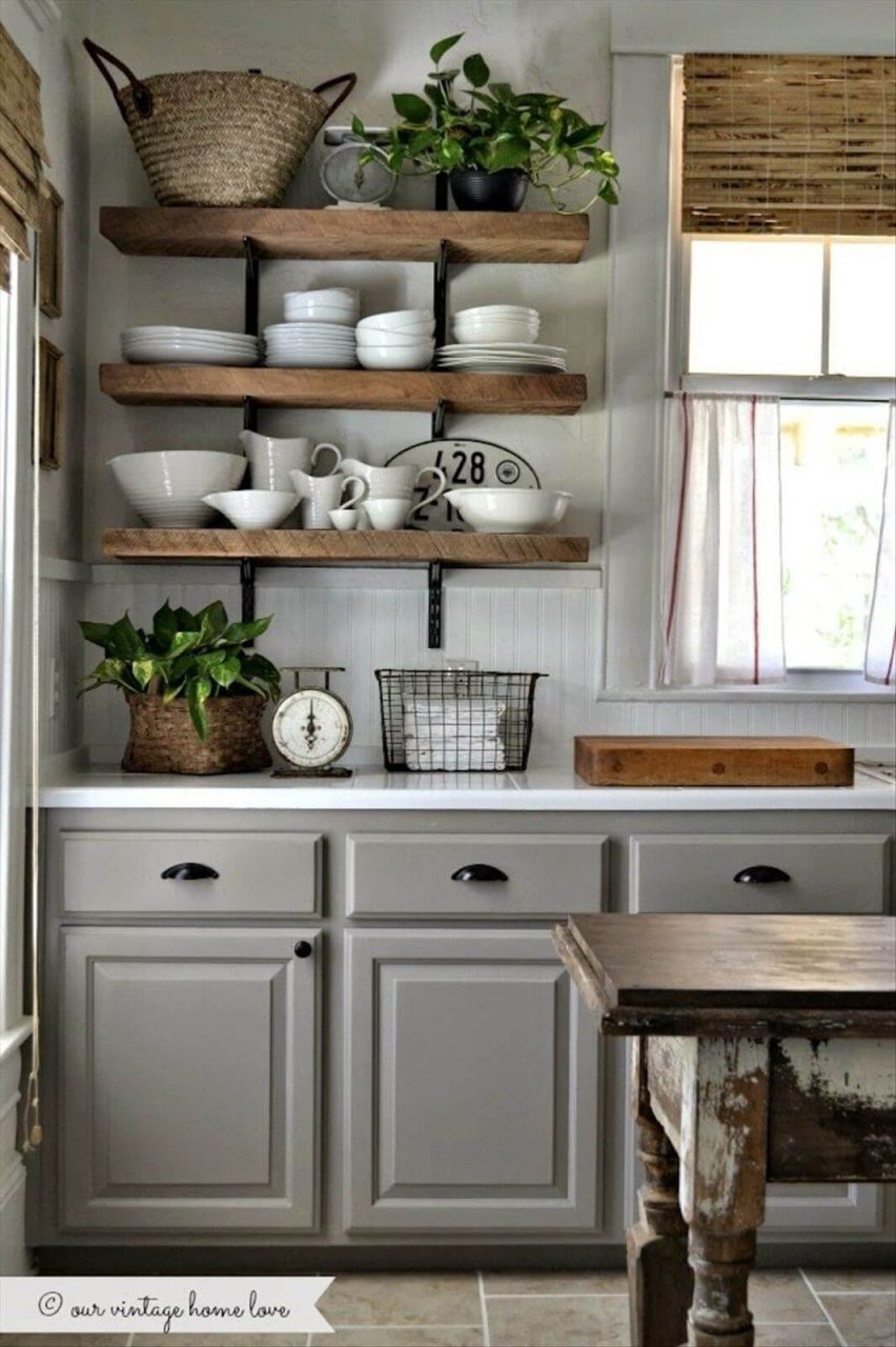 Best Rustic Kitchen Cabinet Ideas And Designs For Grey Cabinets