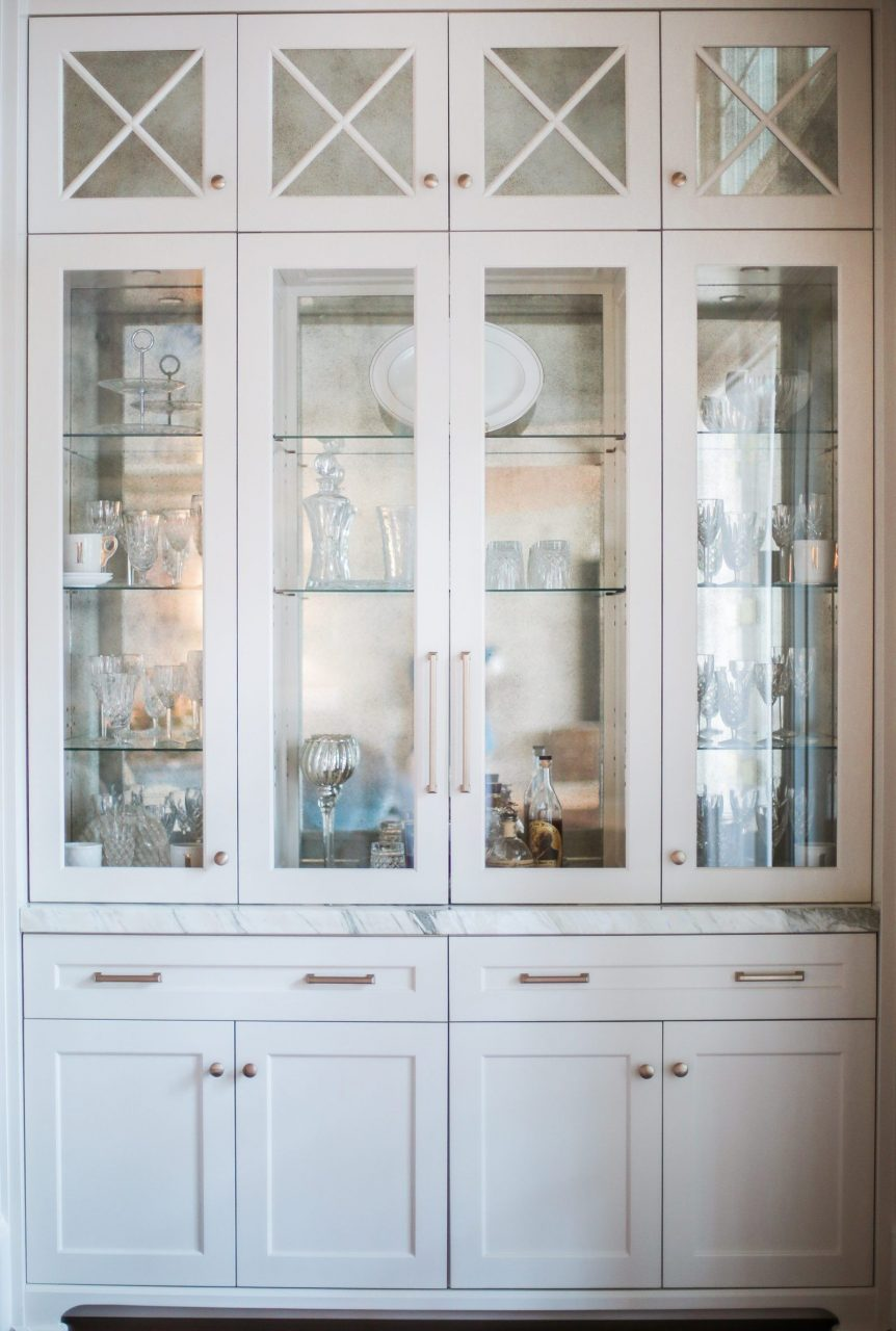 Beyond Beautiful Dining Room Storage In White Gold Built Ins