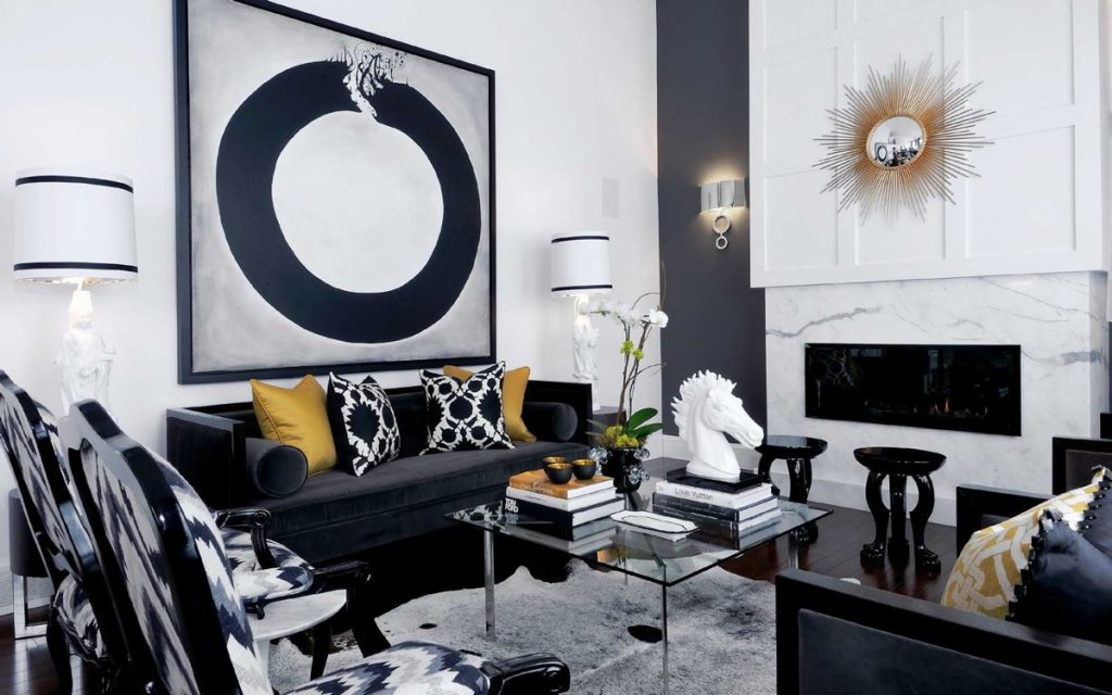 Black And Grey Living Room Redmotif