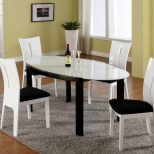 Black And White Oval Dining Room Table Boundless Table Ideas