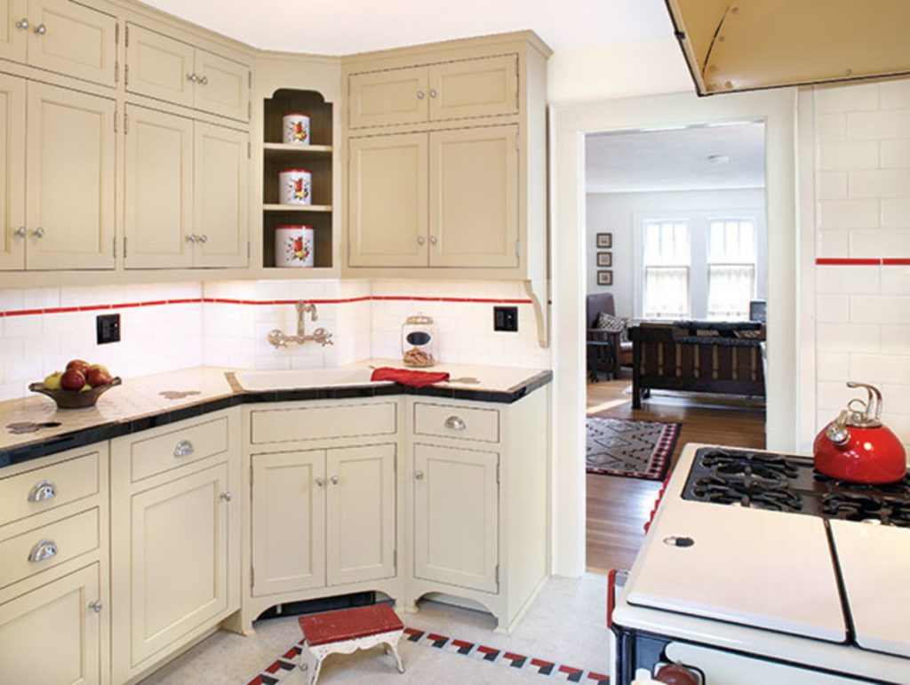 Black White Bungalow 1930s Kitchen Makeover Old House Journal