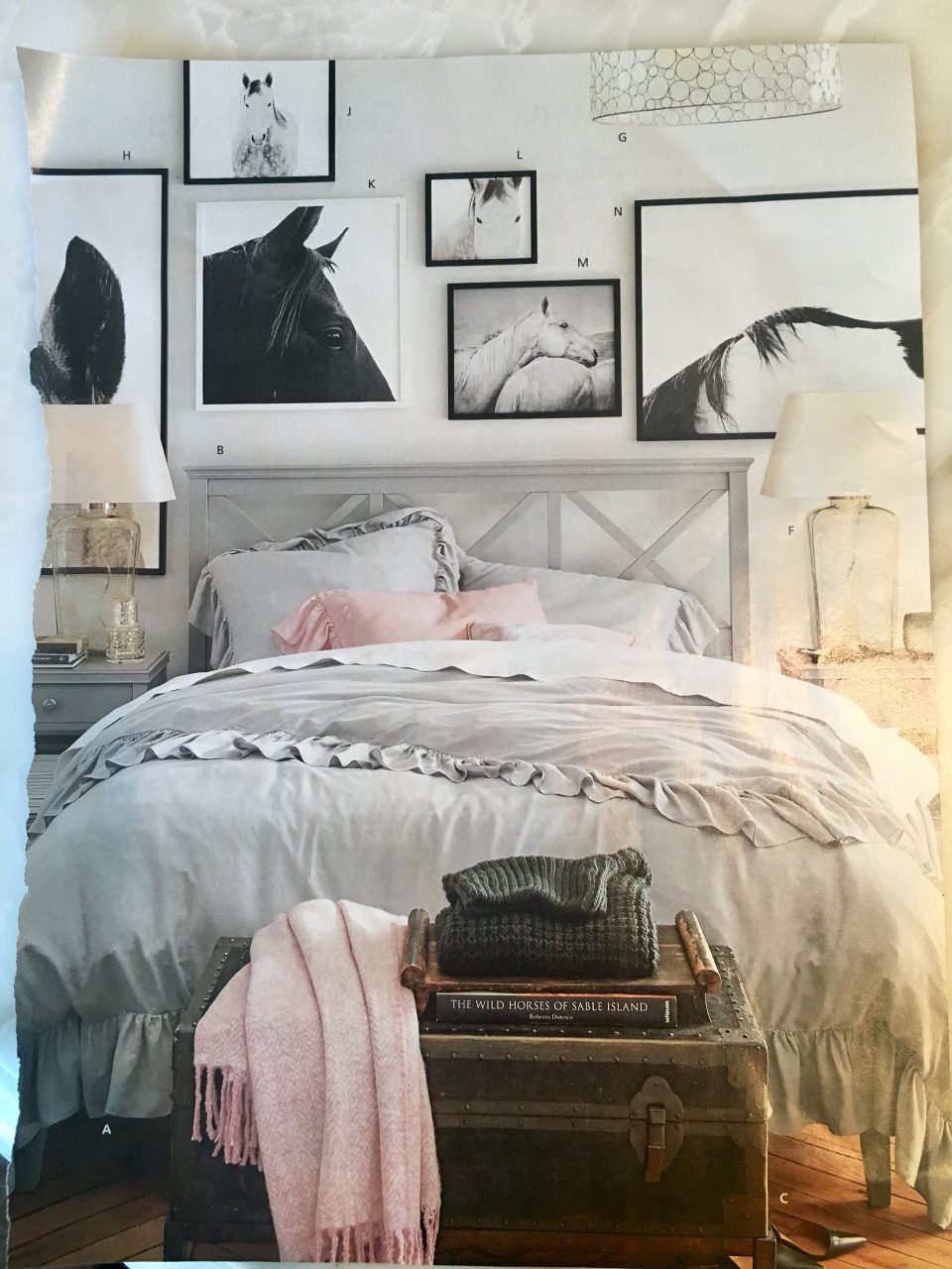 Black White Farm Animal Print Collage Above Headboard Farmhouse